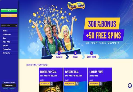 Screenshot Vegas Wild Casino lobby